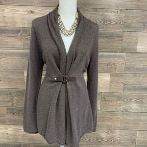 CYNTHIA ROWLEY Cashmere Sweater Jacket belted L